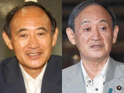 菅首相の顔の変化,首相就任前後,目つき
