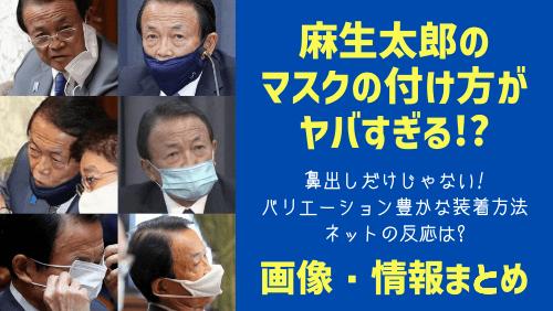 麻生太郎のマスクの付け方まとめ画像