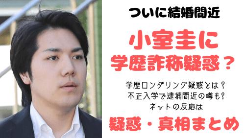 小室圭の学歴詐称疑惑,学歴ロンダリング,不正入学